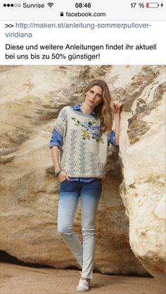 "Photo from album ""Verena on Yandex. Crochet Fashion, Top Pattern, Knitwear, Knit Crochet, Graphic Sweatshirt, Album, T Shirts For Women, Knitting, Sweatshirts"