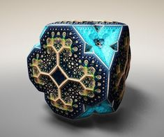 subBlue by Tom Beddard. Tom Beddard has taken fractal art into the third dimension with shapes inspired by Faberge eggs