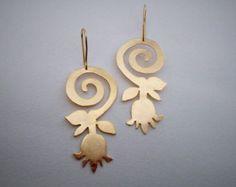 Unique handcrafted jewelry by NoufaroJewels Statement Earrings, Silver Earrings, Dangle Earrings, Handcrafted Jewelry, Unique Jewelry, Belly Button Rings, Dangles, Fashion Jewelry, Christmas Ornaments