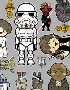 A custom designed Star Wars theme pattern sheet!  Calling all Jedi warriors! This pattern sheet is perfect for a Star Wars themed parties. The