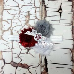 Texas AM Aggies Inspired Baby Flower Headband by EterraCouture, $10.00