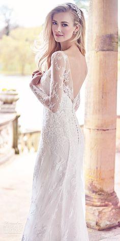 ELLIS BRIDALS 2016 long sleeves sweetheart illusion bateau neckline trumpet lace #wedding dress (18019) mv romantic elegant vback #bridal #weddingdress #engaged #romantic #longsleeves #weddinggown