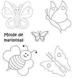Letras Para Imprimir Y Recortar   RECREAR - MANUALIDADES - ARTE: Moldes de flores, mariposas y hojas,
