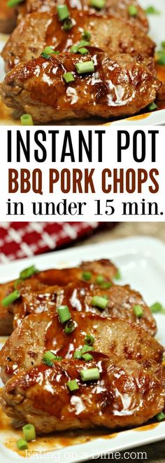 Everyone will love this Instant Pot BBQ Pork Chops Recipe! BBQ Boneless Pork Cho… Everyone will love this Instant Pot BBQ Pork Chops Recipe! BBQ Boneless Pork Chops Recipe is incredibly simple. Try BBQ Pork Chops Pressure Cooker Recipe today! Pressure Cooker Pork Chops, Instant Pot Pressure Cooker, Pressure Cooker Recipes, Slow Cooker, Pressure Cooking, Pork Chops Instant Pot Recipe, Chops Recipe, Barbecue Pork Chops, Boneless Pork Chops