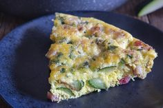 This delicious Baked Frittata is made with eggs, zucchini, pancetta & a little parmesan cheese. Fast & easy, it makes the perfect quick dinner or lunch. Oven Baked Frittata, Frittata Recipes, Easy Frittata Recipe, Delicious Sandwiches, Delicious Dinner Recipes, Vegetable Slice, Stuffed Peppers, Cooking, Breakfast Quiche