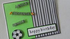 Boys Soccer birthday card.  Loving Lime!