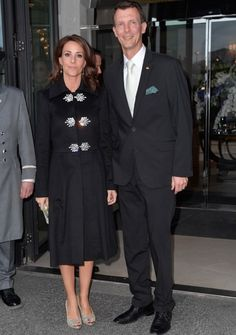 Princess Marie and Prince Joachim of Denmark attend dinner for Mexican president and first lady  April 2016