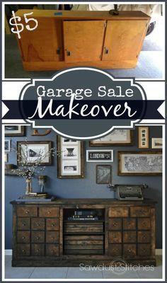 DIY garage sale makeover Sawdust2stitches