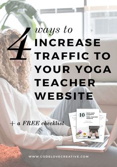 Learn some simple ways to improve SEO and get more traffic to your yoga teacher website. Plus get the FREE checklist: 10 must-have elements for your yoga teacher website! Coach Website, Website Web, Business Tips, Online Business, Business Design, Teacher Must Haves, Seo For Beginners, Social Entrepreneurship, Yoga Teacher Training