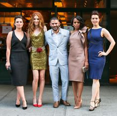TOD's and ELLE Celebrate Kerry Washington: Katie Lowes, Darby Stanchfield, Guillermo Diaz, Kerry Washington, and Bellamy Young