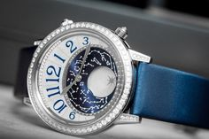 Getting starry eyed with Jaeger-LeCoultre Rendez-Vous Moon watch. An exquisite piece with a large moon-phase indication surround by the star system. Moon Watch, Richard Mille, Luxury Watch Brands, Patek Philippe, Luxury Watches, Watches For Men, Women's Watches, Omega Watch, Bracelet Watch