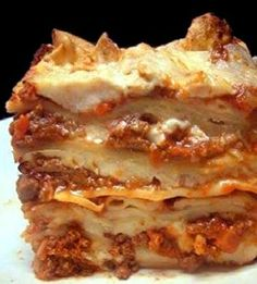 Lasagna Bolognese: The meatiest, creamiest, cheesiest lasagna you will ever have!