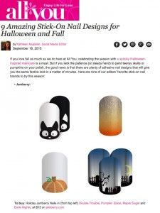 Our Jamberry Nail Wraps IN THE NEWS!! Get them ON YOUR NAILS, for a SPOOKTACULAR Look - www.natnelson.jamberrynails.net/shop All You_Sept16_2015