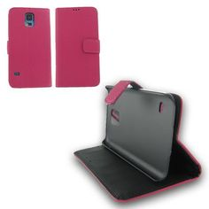 Samsung Galaxy S5 Hot Pink Flip Leather Case