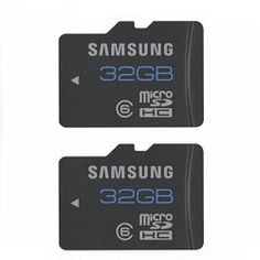 2 Pack! Samsung 32GB Water & Shock Proof Class 6 Micro SDHC Memory Cards $29.99