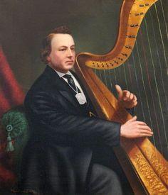Unknown British Artist Harpist. Bangor University - Pinterest