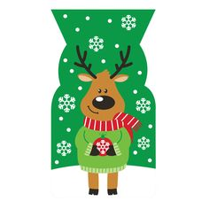 Reindeer Cello Shaped Bags/Case of 240