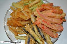 Verduras en tempura.
