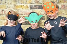 Simple paper masks. Whip them up last minute. Great party activity too.