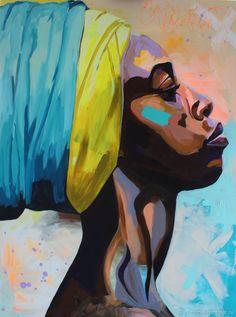 """Люди, ручной работы. Ярмарка Мастеров - ручная работа. Купить """"Black Queen"""" 50-40 Холст. Handmade. Живопись, африка"""