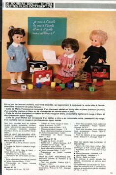 Page Poupée Modes et Travaux , Septembre 1978 Marie Françoise et Jean Michel