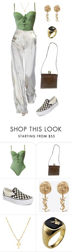 """Untitled #1531"" by lucyshenton ❤ liked on Polyvore featuring Versace, Fendi, Vans and Yves Saint Laurent"