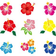 フリーイラスト, ベクター画像, AI, 植物, 花, ハイビスカス, 夏 Hawaiian Crafts, Hawaiian Quilts, Hawaiian Theme, Hawaiian Flowers, Hibiscus Flowers, Moana Birthday Party, Moana Party, Stencil Art, Stencils