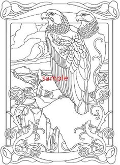 Eagles Cross Stitch Chart Bird Coloring