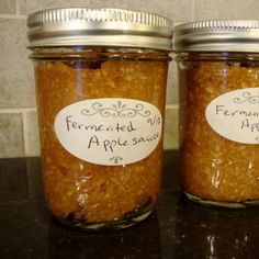Fermented Maple Applesauce - needs whey, a by product of homemade yogurt