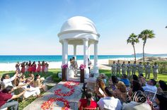The view from the Wedding Gazebo is stunning! #DreamsLosCabos