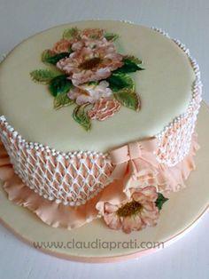 Gorgeous Cakes, Amazing Cakes, Royal Icing Cakes, German Cake, Minnie Cake, Cake Stencil, Hand Painted Cakes, Ice Cake, Wedding Cake Decorations