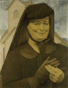 grant wood the good influence - Google Search