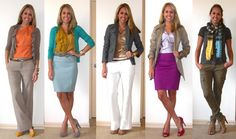 A weeks worth of work outfits