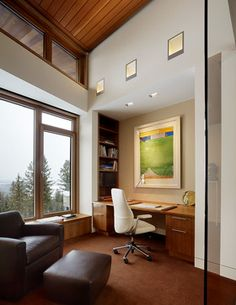 Butte Residence - contemporary - Home Office - Other Metro - Carney Logan Burke Architects
