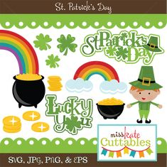 St. Patrick's Day SVG scrapbook bundle svg files svg cuts svg files for cutting machines free svgs