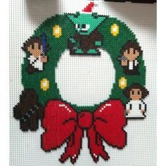Star Wars Christmas wreath hama beads by xtiabx