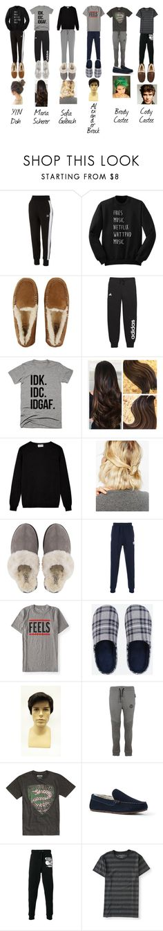 """""Maybe I should tell her/him?"""" by deathlyhallows12 on Polyvore featuring Puma, UGG, adidas, Calvin Klein Underwear, WithChic, Billionaire Boys Club, Aéropostale, Uniqlo, Philipp Plein and Warner Bros."