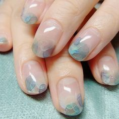 Perhaps you have discovered your nails lack of some trendy nail art? Sure, lately, many girls personalize their nails with lovely … Stylish Nails, Trendy Nails, Cute Nails, My Nails, Bling Nails, Japanese Nail Design, Japanese Nail Art, Minimalist Nails, Water Color Nails