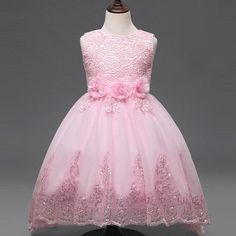 New 2017 Girl Wedding Dress,Kids Lace Party Dresses,Kids Tutu Dress,Flower Girl Dresses For Weddings,For Years Flower Girls, Princess Flower Girl Dresses, Princess Ball Gowns, Baby Girl Princess, Little Girl Dresses, Flower Dresses, Girls Dresses, Princess Style, Pink Princess