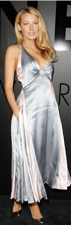 Blake Lively: Dress by Chanel & Christian Louboutin pumps.