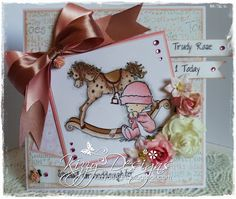 Baby is LOTV and Rocking Horse is Molly Bloom stamp