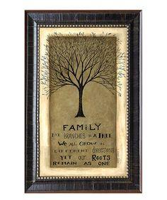 Look what I found on #zulily! 'Family' Tree Framed Wall Art by Karen's Art & Frame #zulilyfinds