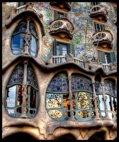 Casa Batilo, Gaudi, Barcelona, Spain architecture