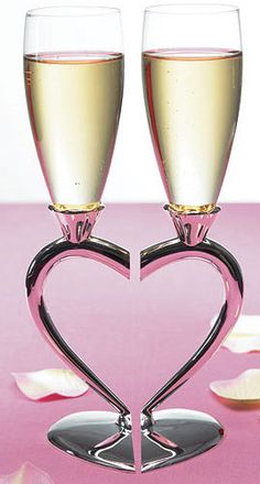 Personalized Silver Plated Interlocking Heart Stems with Glass Wedding Flutes Wedding Flutes, Wedding Favors, Wedding Events, Wedding Reception, Our Wedding, Dream Wedding, Wedding Decorations, Weddings, Wedding Glasses