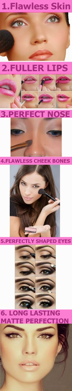 7 Makeup Tricks For a Picture Perfect Clear Face -Do It Yourself Today ~~~~~~~~~~~~~~~~~~~~~~~~~~ SKIN ~~~~~~~~~~~~~~~~~~~~~~~~~~ LIP ~~~~~~~~~~~~~~~~~~~~~~~~~~ EYES ~~~~~~~~~~~~~~~~~~~~~~~~~~ CHEEK BONES ~~~~~~~~~~~~~~~~~~~~~~~~~~ NOSE