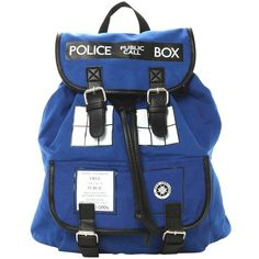Doctor Who Backpack Dr Who Tardis Backpack Doctor Who Tardis Bag... (€24) ❤ liked on Polyvore featuring bags, backpacks, sport backpack, blue bag, knapsack bag, blue sports bag and rucksack bags