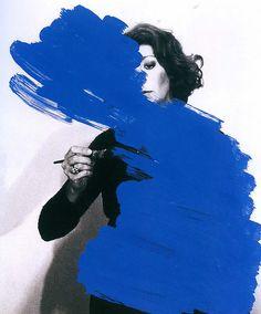 #blue #paint #art