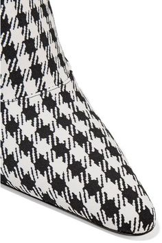 Altuzarra - Davidson Houndstooth Canvas Mules - Black - IT36.5