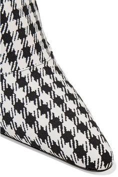 Altuzarra - Davidson Houndstooth Canvas Mules - Black - IT36.5
