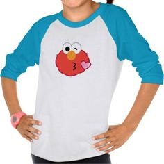 (Elmo Face Throwing a Kiss T-shirt) #Cute #Elmo #Emoji #EmojiIcons #Fun #Icons #MobileIcon #SesameStreet is available on Famous Characters Store   http://ift.tt/2aBiuoU